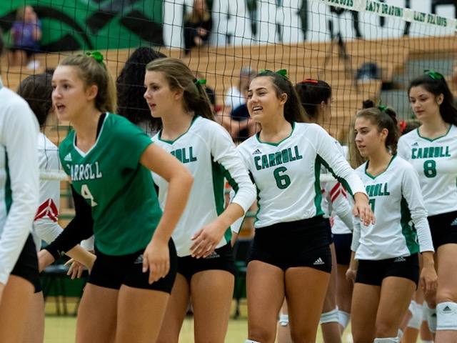 Lady Dragon Volleyball sweeps away Aledo at home