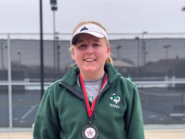 Dragon Tennis perseveres in weather - still earns medal in Coppell