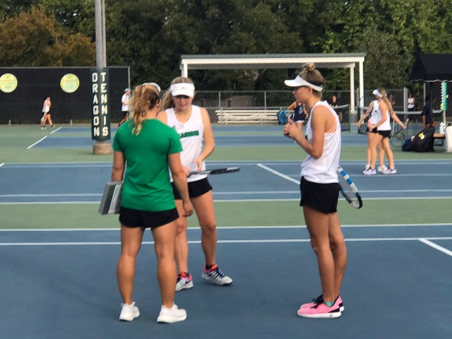 Dragon Tennis shuts out the Jags in Bi-District play
