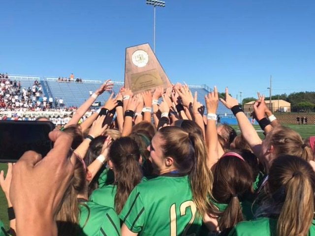 STATE CHAMPS! Lady Dragon Soccer overwhelms Katy Tompkins in 5-0 victory