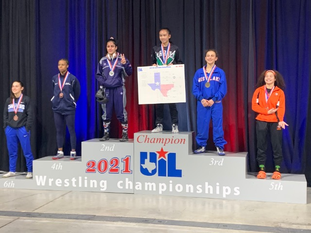 Lady Dragon Wrestling makes history with first ever title - Gold at UIL State Tournament