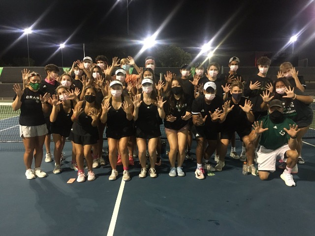 Dragon Tennis dominates Fossil Ridge for District Title