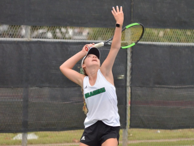 Dragon Tennis defeats Guyer 17-2