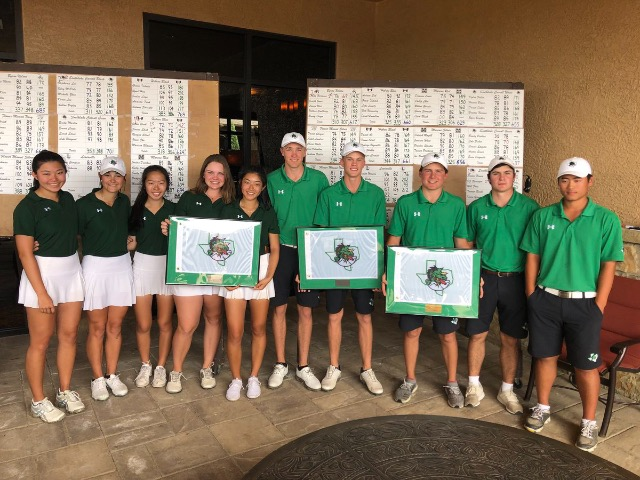 Dragon Varsity Black Team Golf takes 1st at District Preview