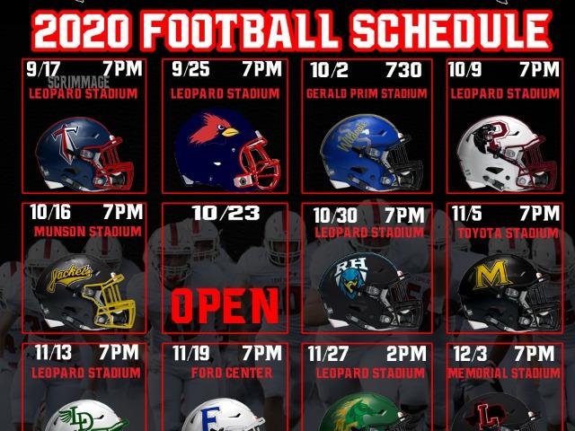 LOJO 2020 Football Schedule