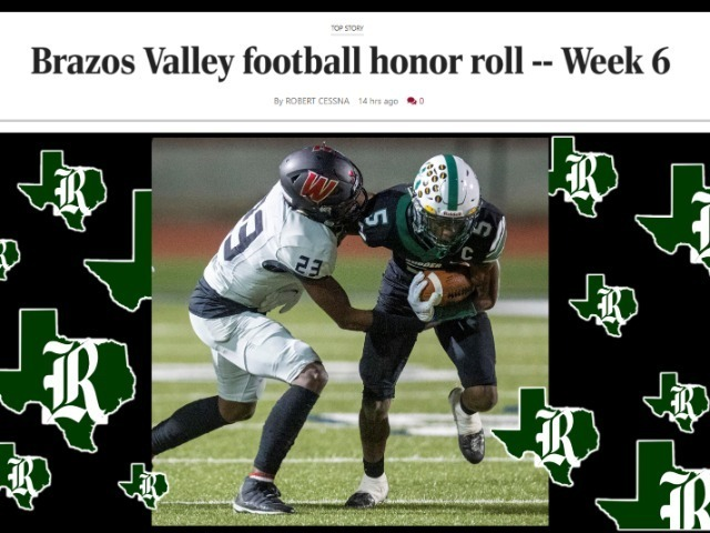 Brazos Valley football honor roll -- Week 6