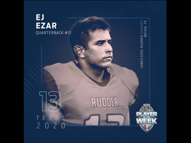 Rudder's E.J. Ezar named Built Ford Tough 5A Texas High School Player of the Week