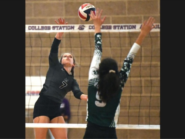 Herron's serving helps College Station sweep Rudder in 19-5A volleyball