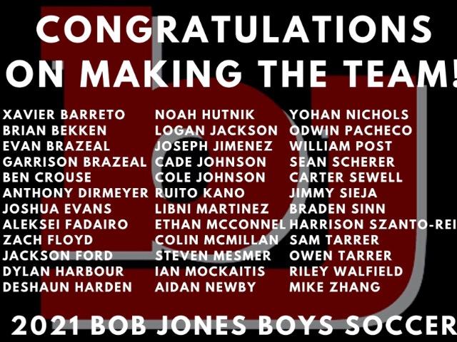2021 Boys Soccer Team