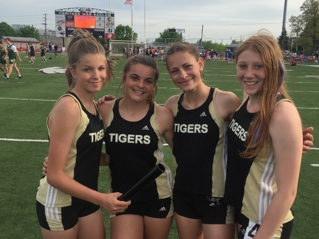 Tigers 9th Grade 4 x 100 Record Falls @ Regionals