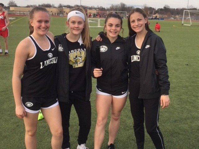 Lady Leopards 4 x 100 Team Breaks School Record