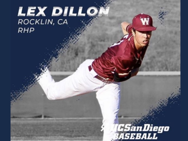 Baseball Player Lex Dillon Signs with UCSD