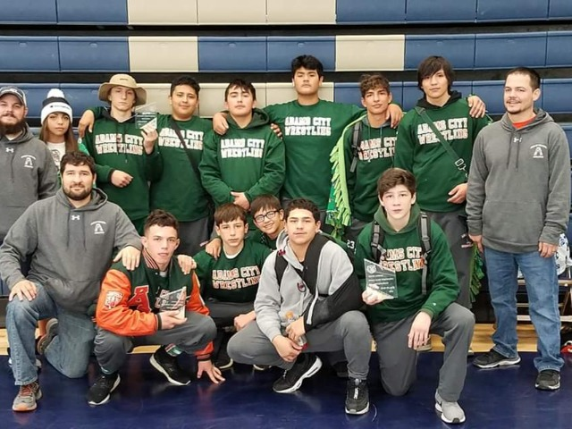 Adams City takes 2nd at Ridge Rage Dual Tournament at Palmer Ridge High School.