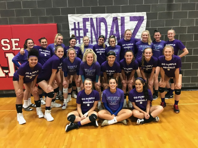 Montrose and Fruita Volleyball rally for Alzheimer's awareness
