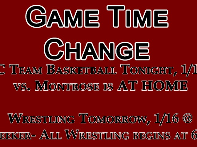 Image for Game Time Change