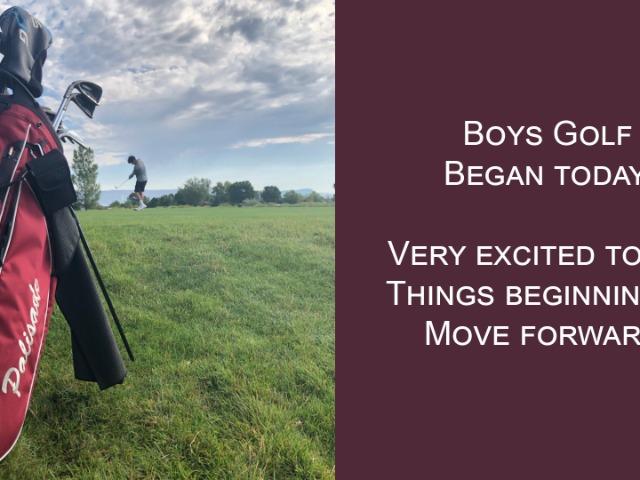 Boys golf began today