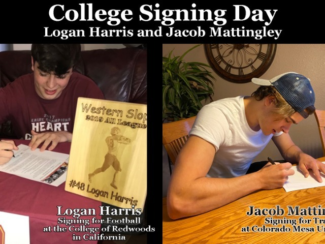 Image for Logan Harris-Football at Redwoods College and Jacob Mattingley-Track at CMU