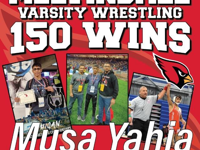 Musa Yahia Reaches 150th Win in Wrestling