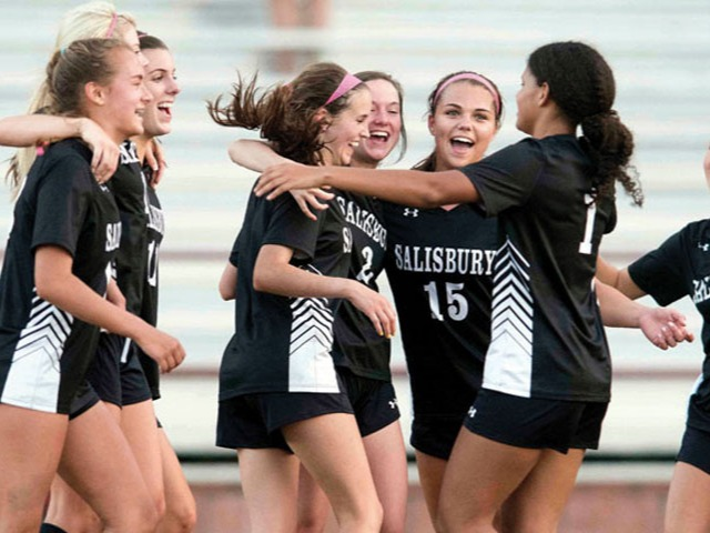 Salisbury girls top South to set county soccer record