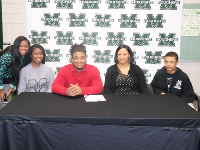 Rougher, family celebrate his signing