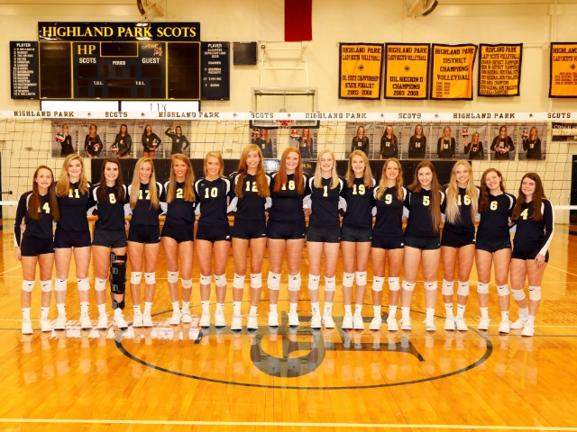 Scots Volleyball Team - Area Championship Match