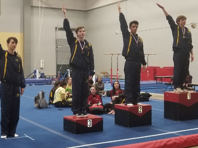 District Champs, Thomas Jones Wins Floor and Vault and HP Wins Every Event