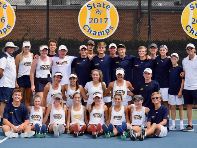 Scots Tennis dominates Allen Eagles