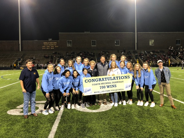 Coach Dearman Recognized at Football Game for 700 Wins