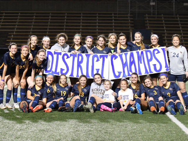 Lady Scots Soccer - District Champs