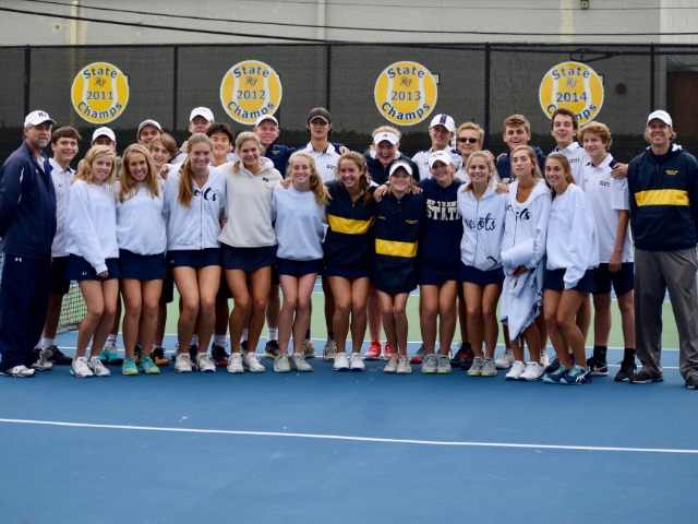 SCOTS VARSITY TENNIS ONE STEP CLOSER TO STATE