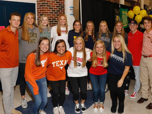NCAA Fall Signees
