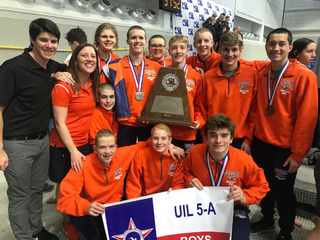 Image for Wakeland Boys Swimming Team Finishes Second in State