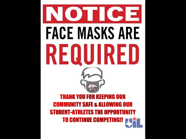 Image for Face Coverings Required for ALL Athletic Events