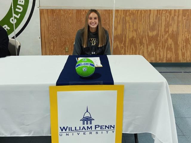Soccer star Abigail Wammock signs with William Penn University!