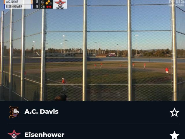 Varsity Baseball 9-8 against Davis!!!