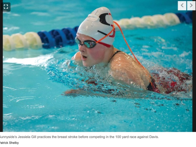SHS girls swim team races with winning freestyle edge