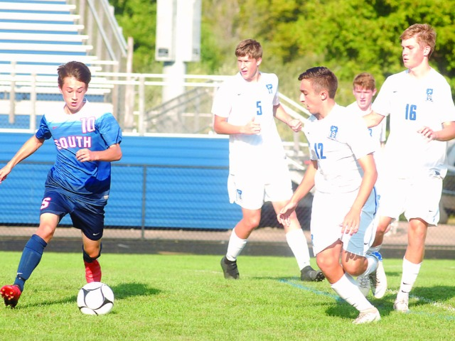 South boys win 2-0 in soccer match