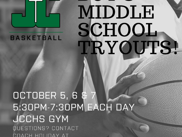 JC Basketball Announces Boys Middle School Tryouts!