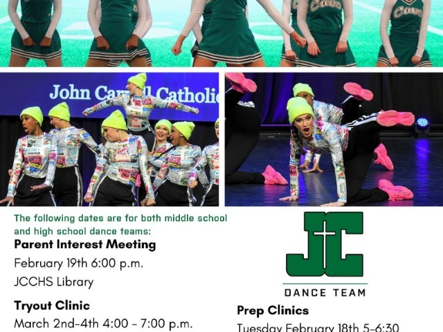 JCCHS Announces Dance Team Tryout Dates!