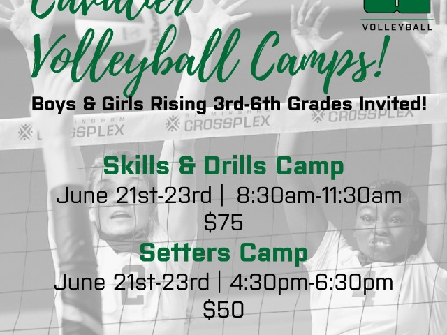 Image for Cavalier Volleyball Camps!