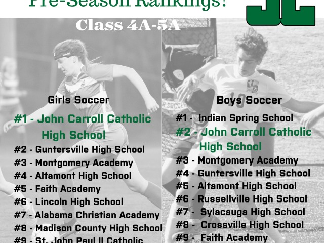 Boys and Girls Soccer Pre-Season Rankings