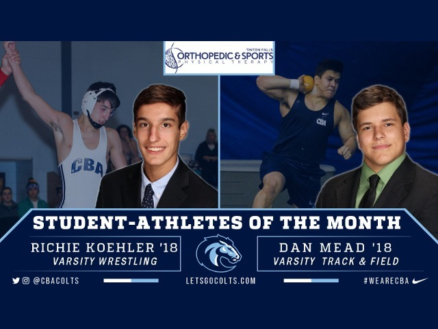 Koehler, Mead Named Student-Athletes of March