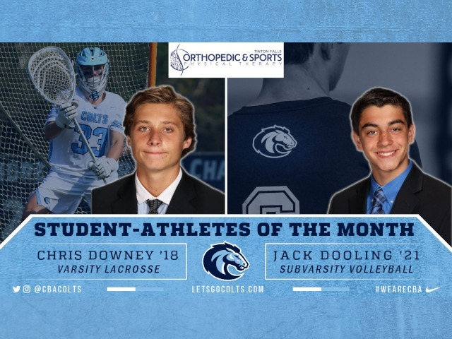 Downey, Dooling Named Student Athletes of April