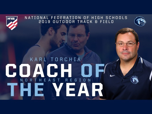Torchia Wins Regional Coach of the Year for Outdoor Track