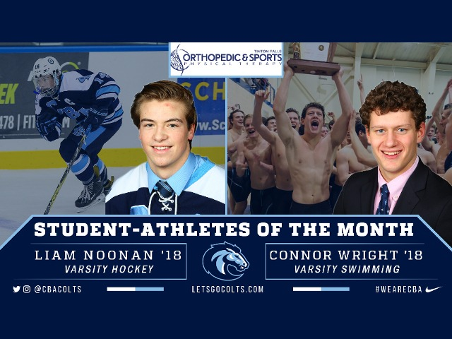 Noonan, Wright Selected as February Athletes of the Month