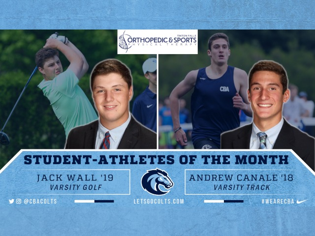 Canale, Wall Named May Student-Athletes of the Month