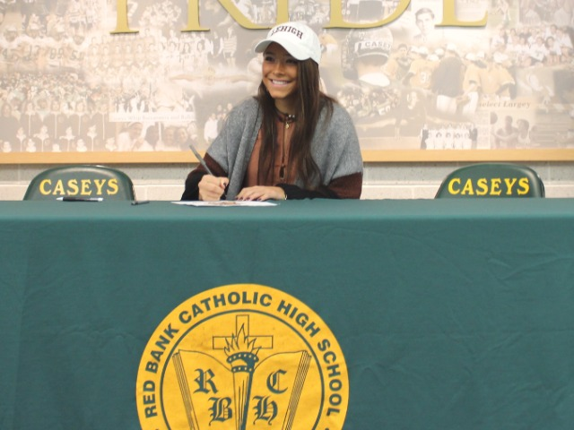 Lily Salcedo signing with Lehigh University for lacrosse