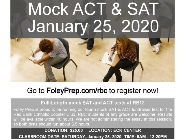 Booster Club Sponsors Mock ACT/SAT Event
