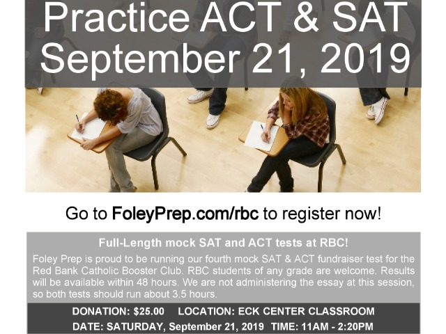Image for article titled RBC Booster Club Presents Foley Prep Mock SAT/ACT