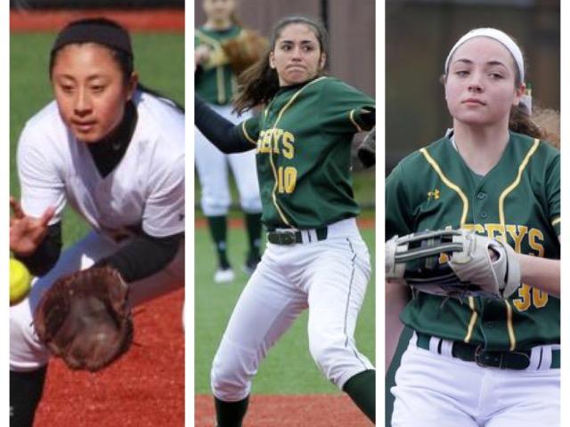 Alexandra DiBenedetto, Taylor Lane, and Allison Tomaino earn All Shore honors